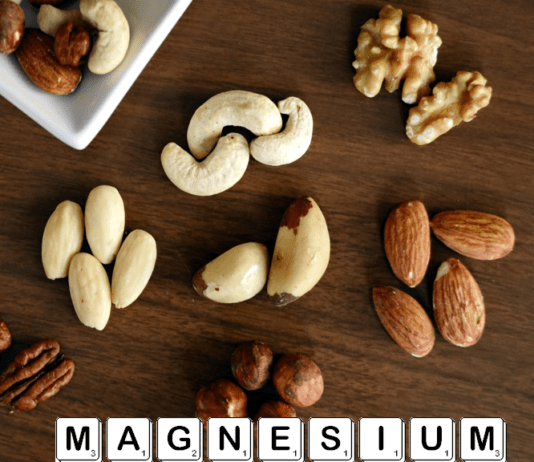 Various nuts on table